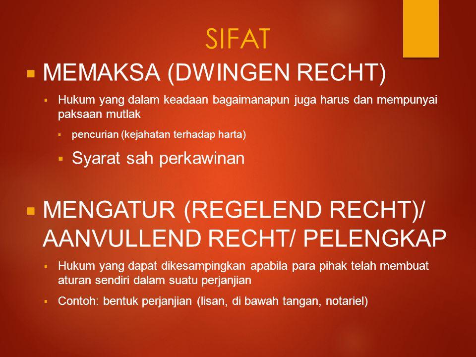 SIFAT MEMAKSA (DWINGEN RECHT)