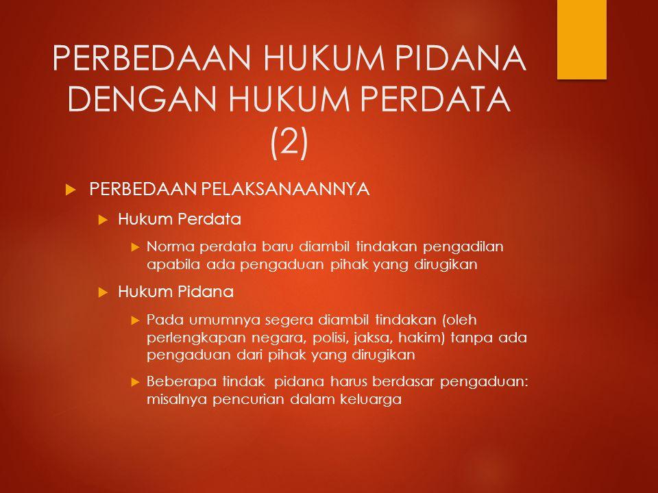 PERBEDAAN HUKUM PIDANA DENGAN HUKUM PERDATA (2)