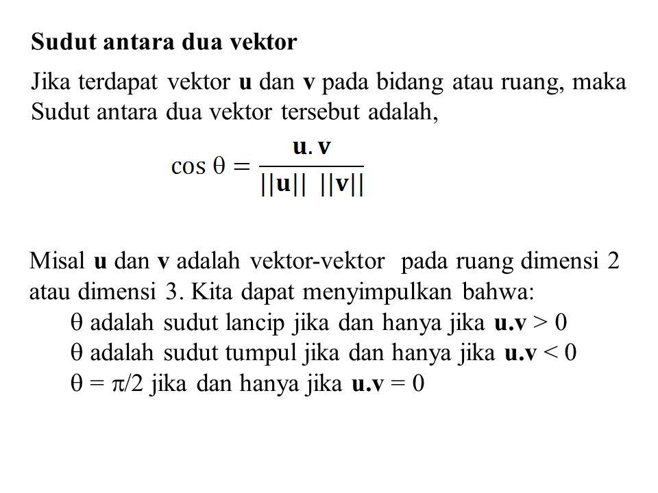 Sudut antara dua vektor
