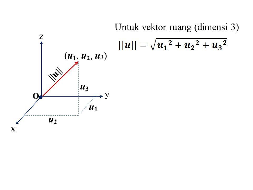 Untuk vektor ruang (dimensi 3)