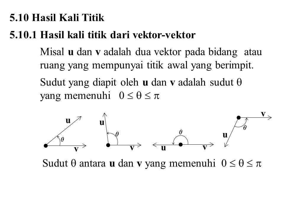 5.10.1 Hasil kali titik dari vektor-vektor