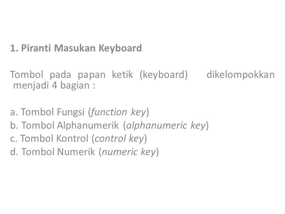 1. Piranti Masukan Keyboard