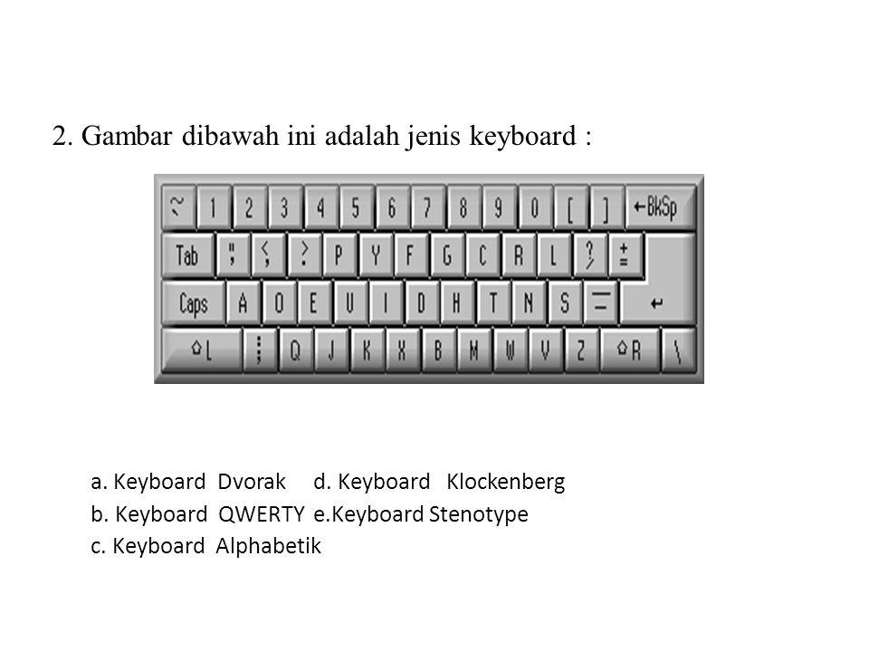 2. Gambar dibawah ini adalah jenis keyboard :