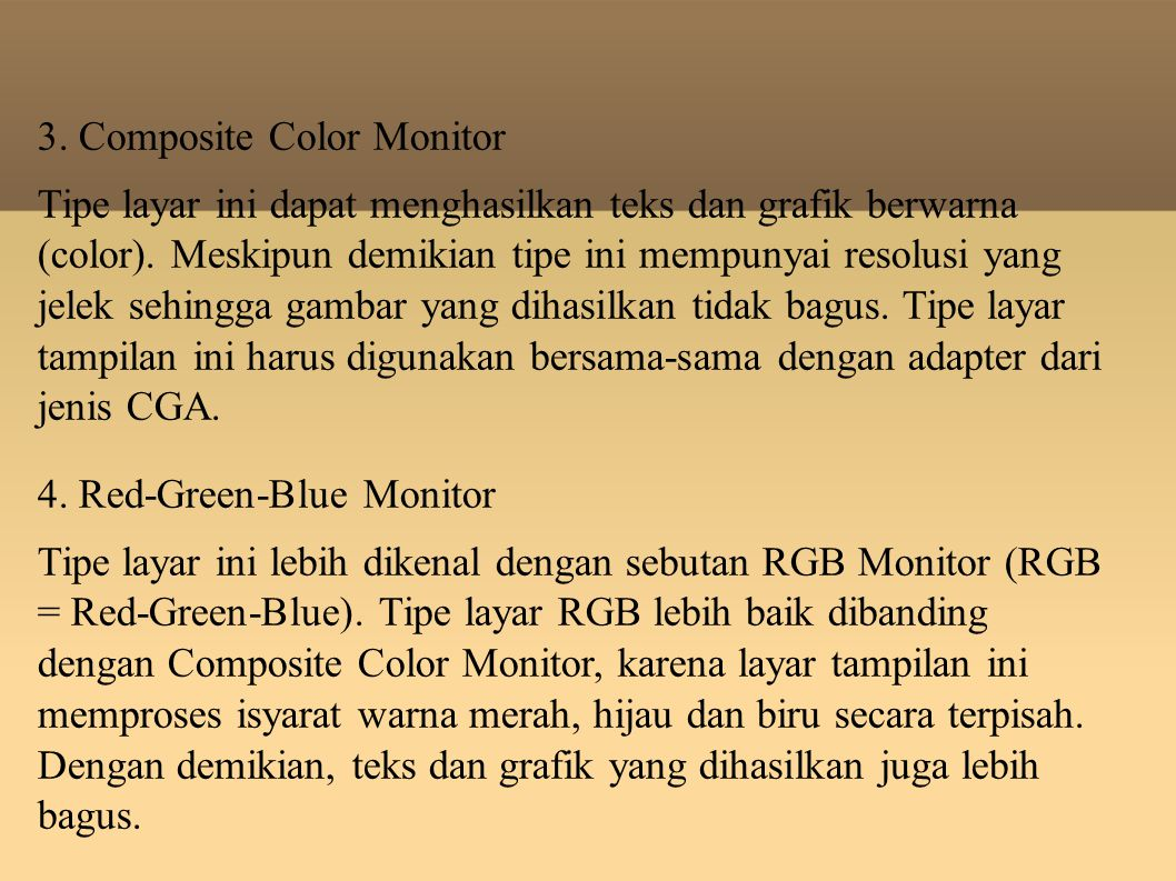 3. Composite Color Monitor