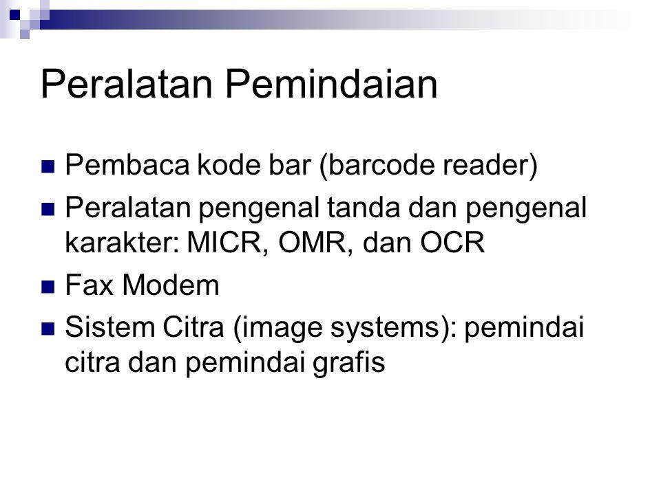 Peralatan Pemindaian Pembaca kode bar (barcode reader)