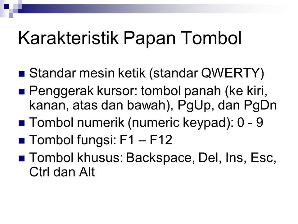 Karakteristik Papan Tombol