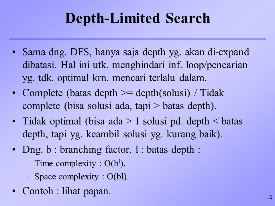Depth-Limited Search 4/9/2017.