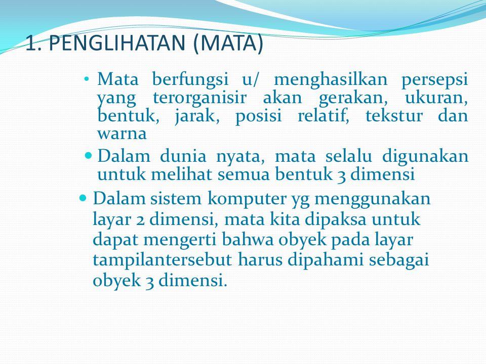 1. PENGLIHATAN (MATA)
