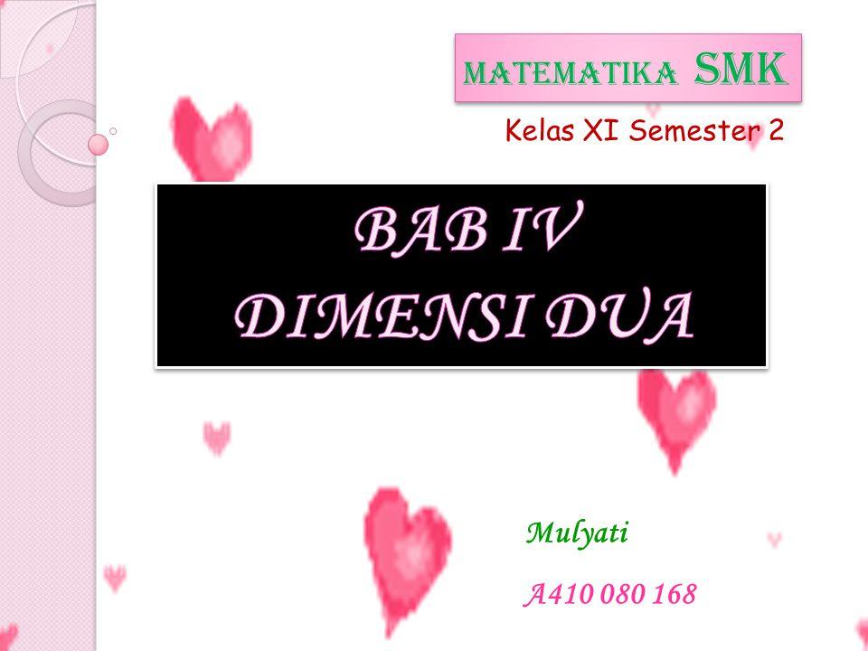 BAB IV DIMENSI DUA MATEMATIKA SMK Mulyati A410 080 168