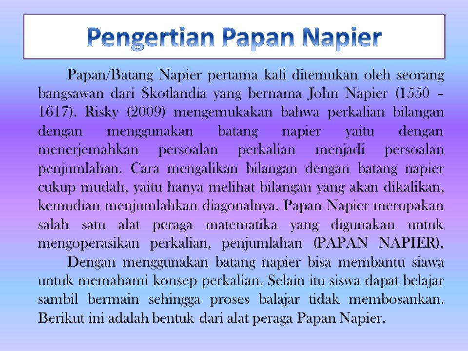Pengertian Papan Napier