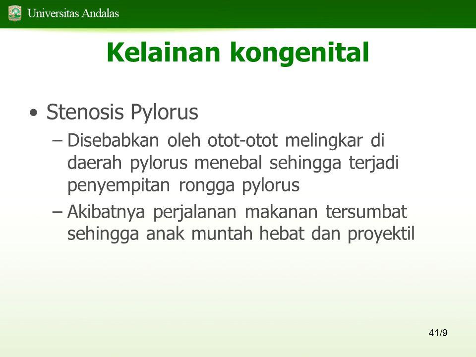Kelainan kongenital Stenosis Pylorus