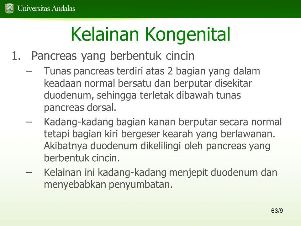 Kelainan Kongenital Pancreas yang berbentuk cincin
