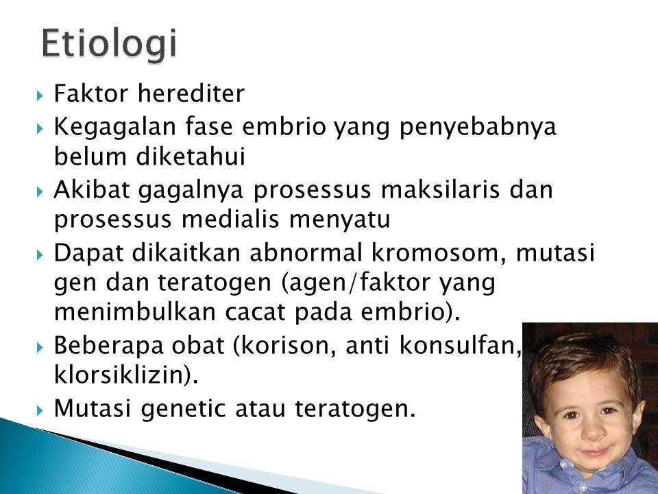 Etiologi Faktor herediter