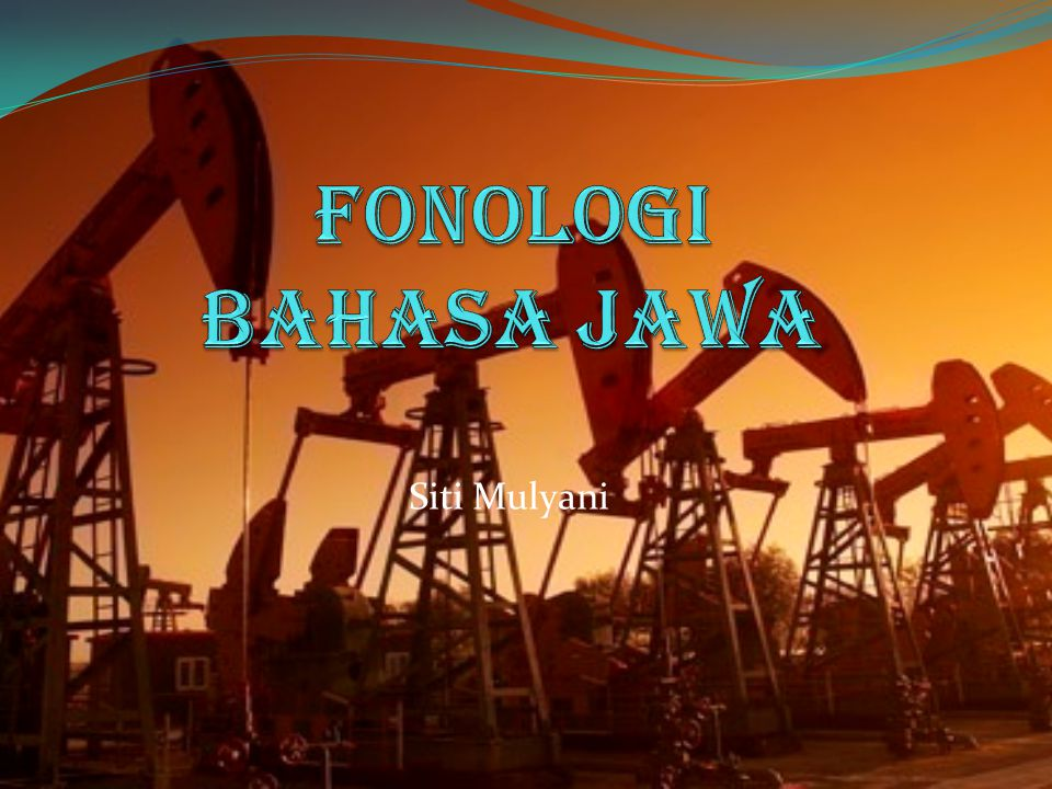 Fonologi Bahasa Jawa Siti Mulyani