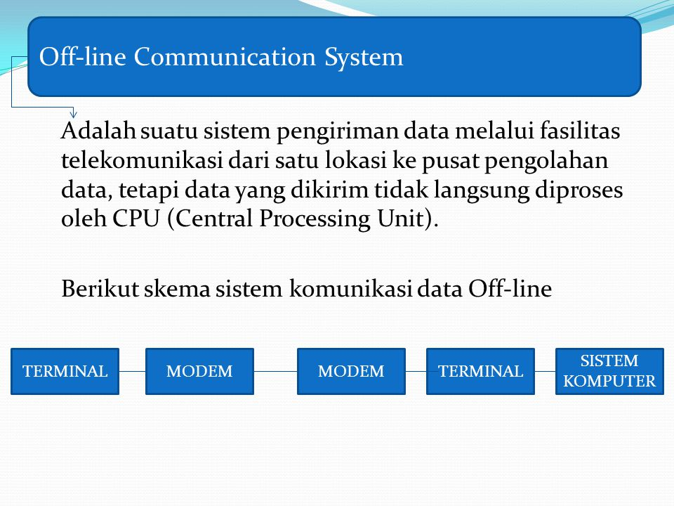 Off-line Communication System