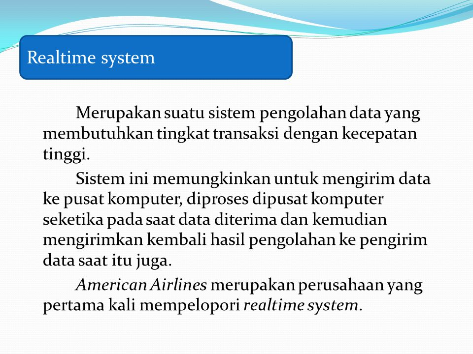 Realtime system