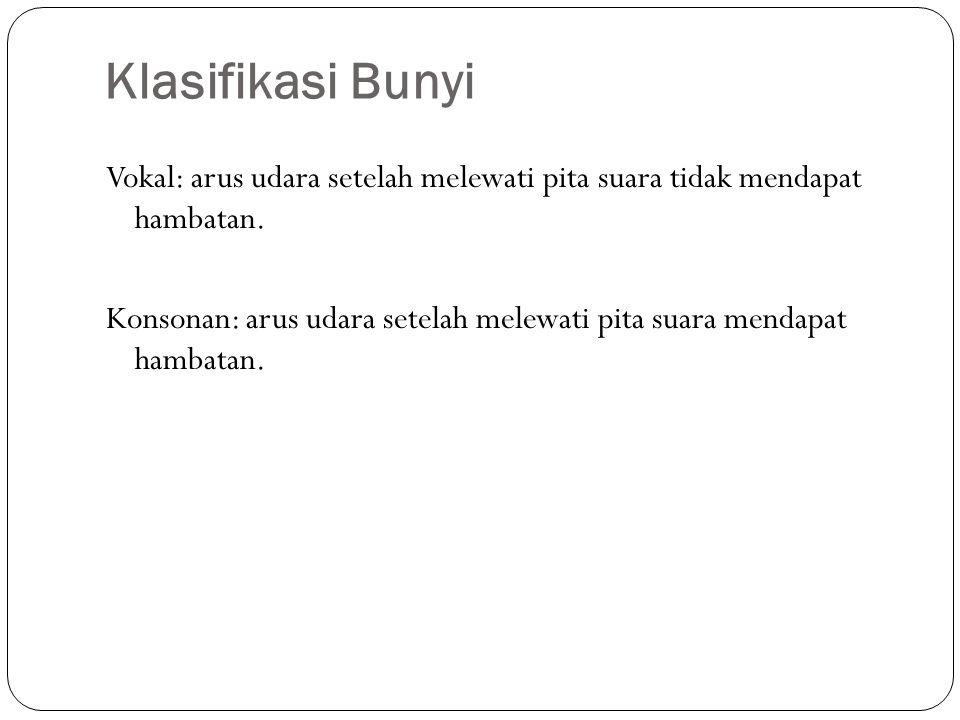 Klasifikasi Bunyi