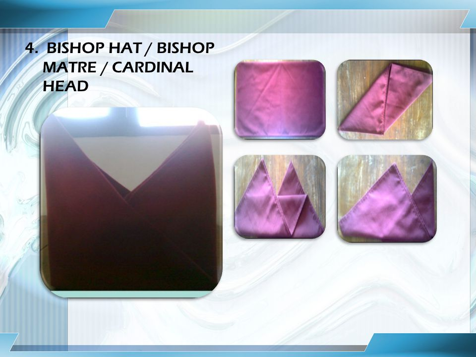 4. BISHOP HAT / BISHOP MATRE / CARDINAL HEAD