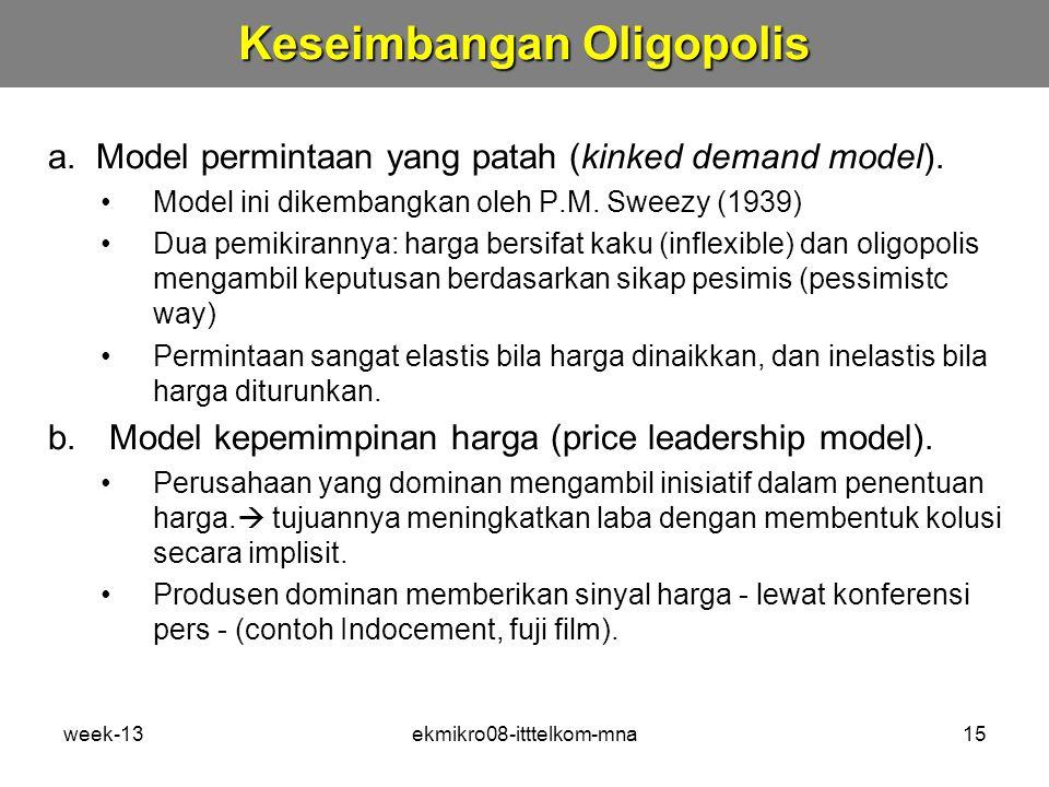 Keseimbangan Oligopolis