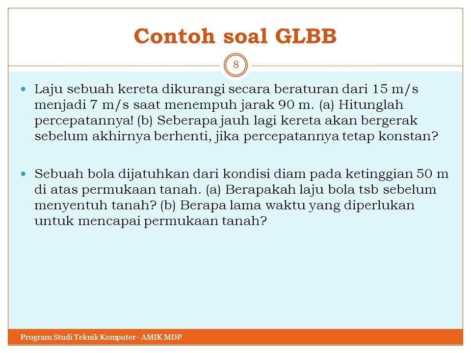 Contoh soal GLBB
