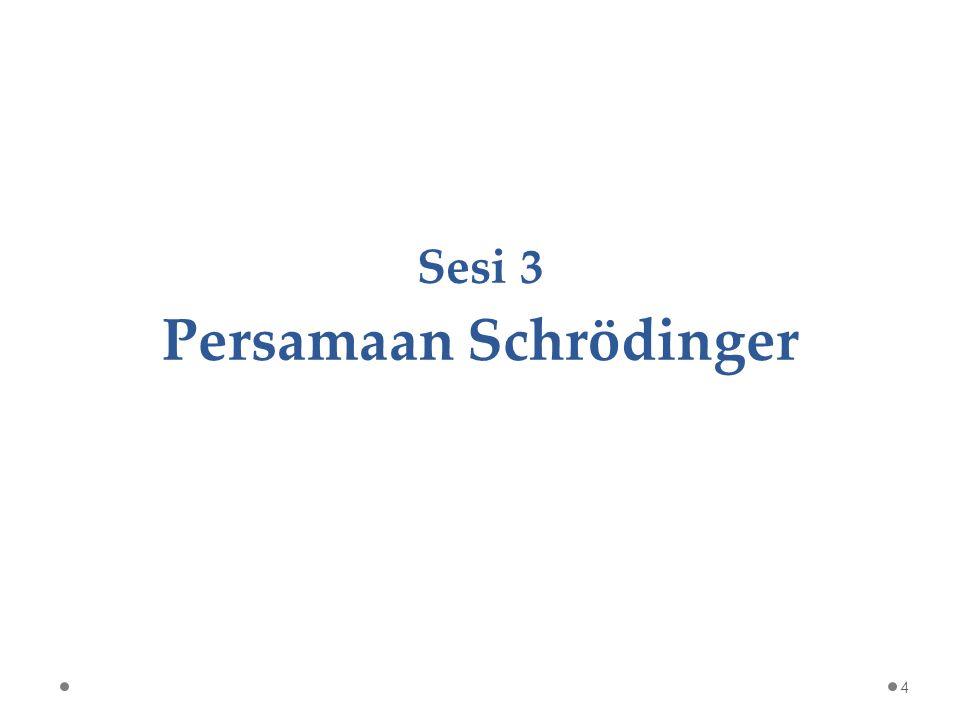 Sesi 3 Persamaan Schrödinger