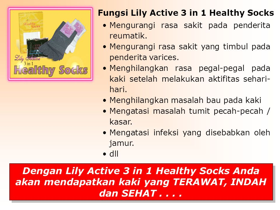 Fungsi Lily Active 3 in 1 Healthy Socks
