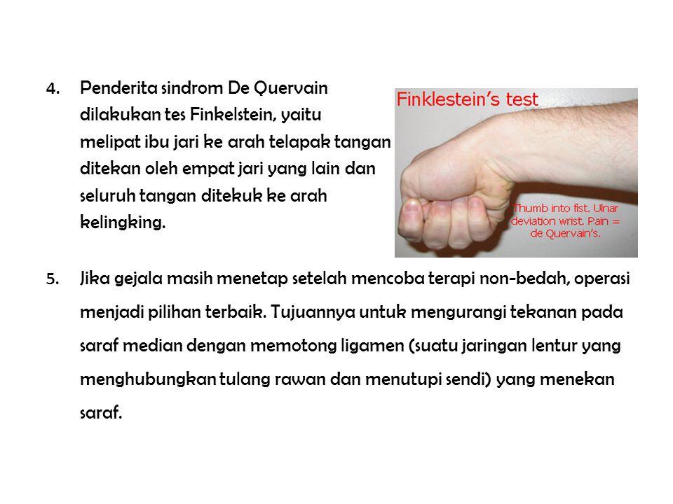 Penderita sindrom De Quervain