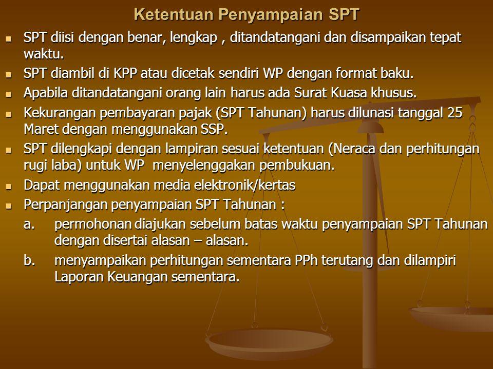 Ketentuan Penyampaian SPT