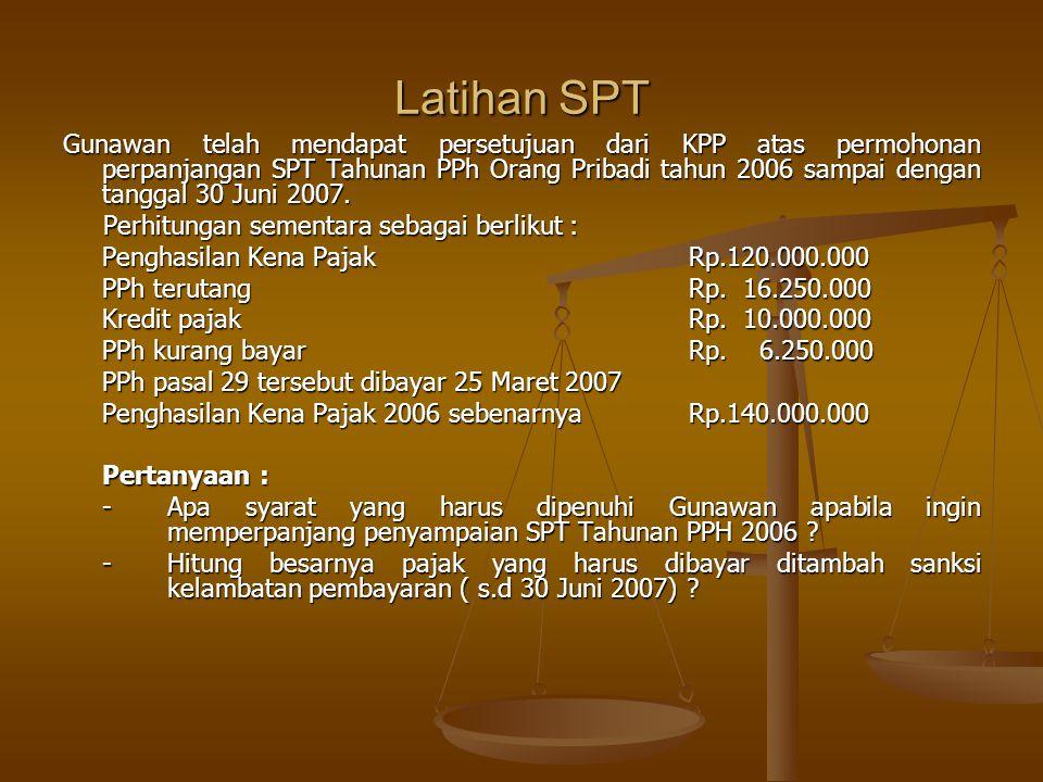 Latihan SPT