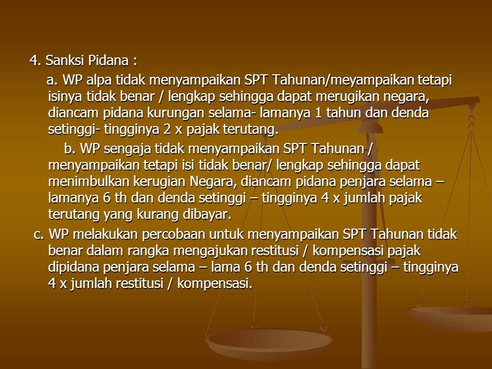 4. Sanksi Pidana :