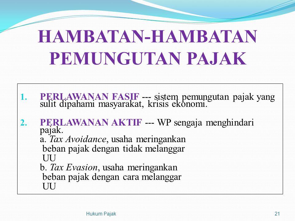 HAMBATAN-HAMBATAN PEMUNGUTAN PAJAK