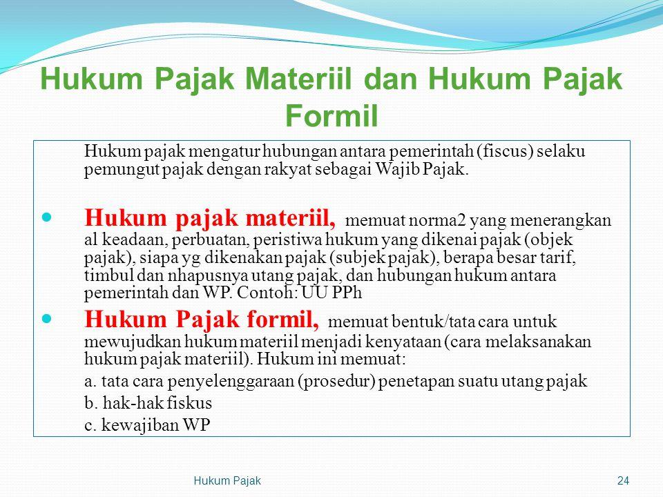 Hukum Pajak Materiil dan Hukum Pajak Formil