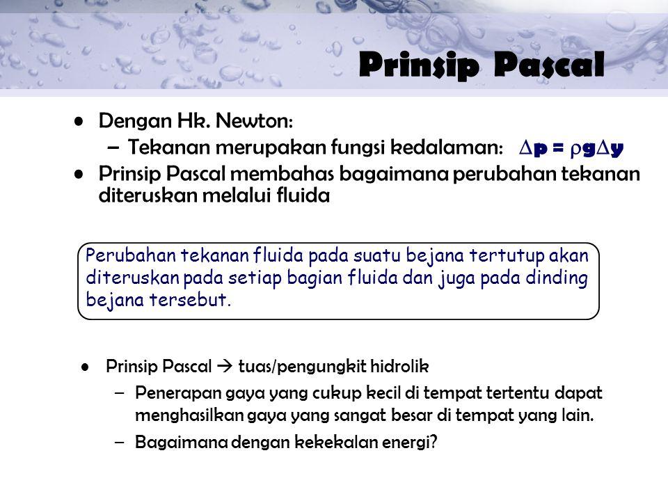 Prinsip Pascal Dengan Hk. Newton: