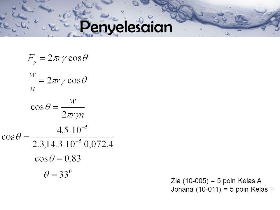Penyelesaian Zia (10-005) = 5 poin Kelas A