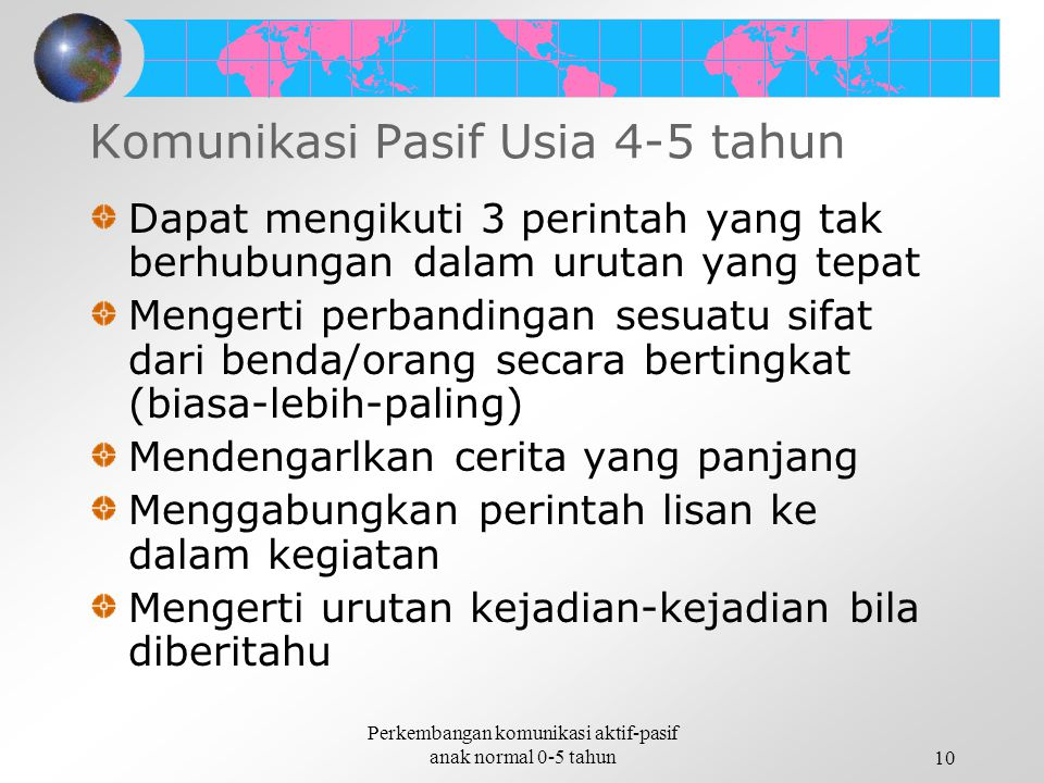 Komunikasi Pasif Usia 4-5 tahun