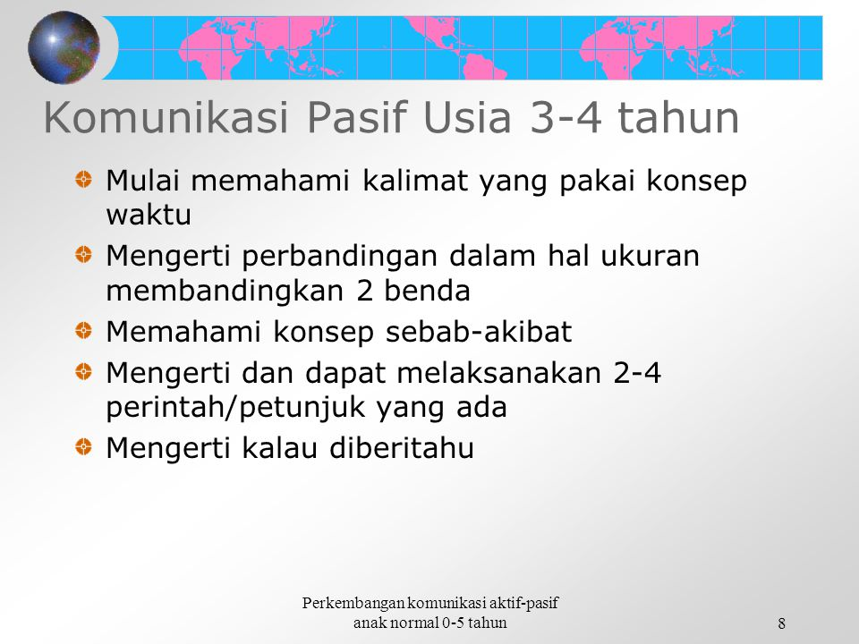 Komunikasi Pasif Usia 3-4 tahun