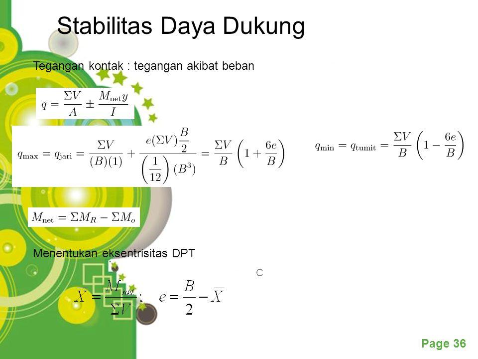 Stabilitas Daya Dukung