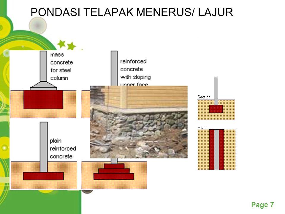 PONDASI TELAPAK MENERUS/ LAJUR
