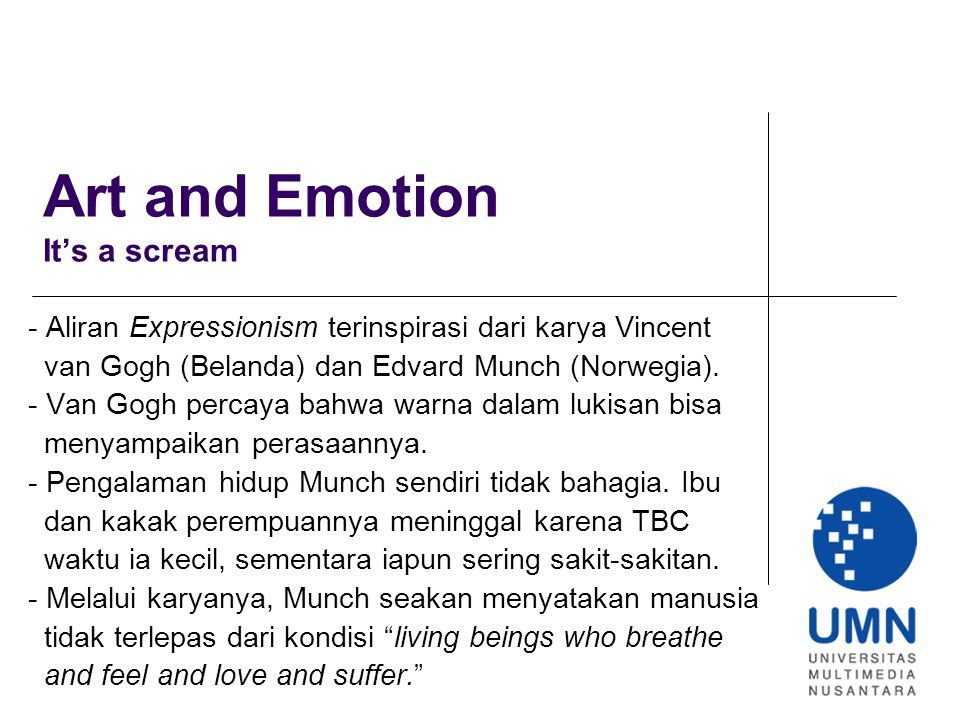 Art and Emotion It's a scream