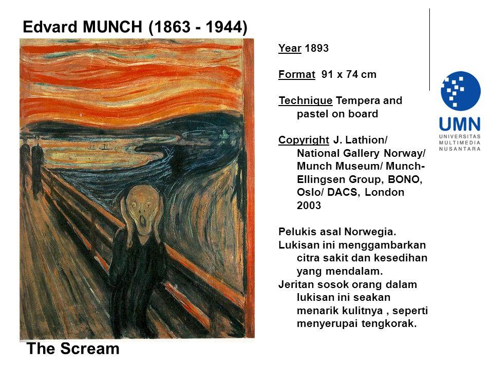 Edvard MUNCH (1863 - 1944) The Scream Year 1893 Format 91 x 74 cm