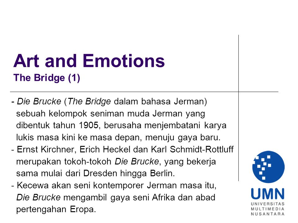Art and Emotions The Bridge (1)