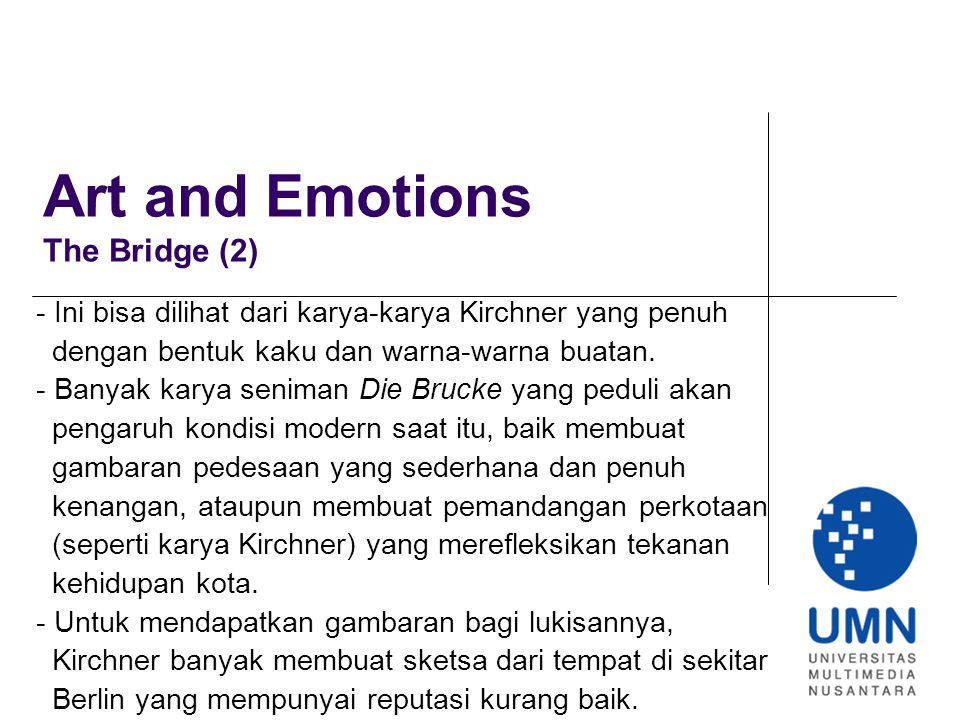 Art and Emotions The Bridge (2)