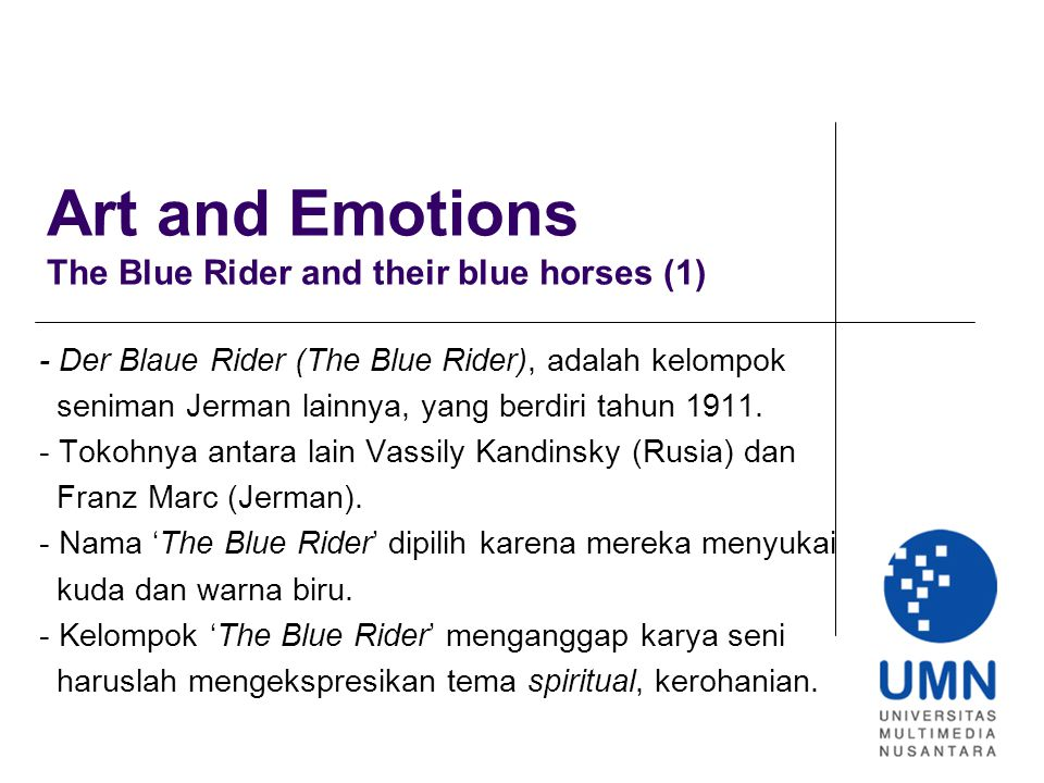 Art and Emotions The Blue Rider and their blue horses (1)