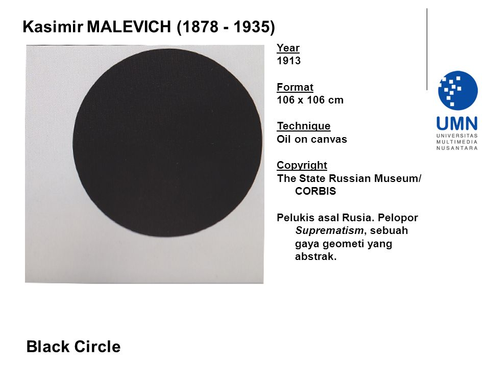 Kasimir MALEVICH (1878 - 1935) Black Circle Year 1913 Format