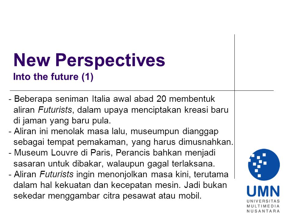 New Perspectives Into the future (1)