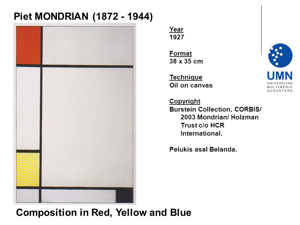 Composition in Red, Yellow and Blue