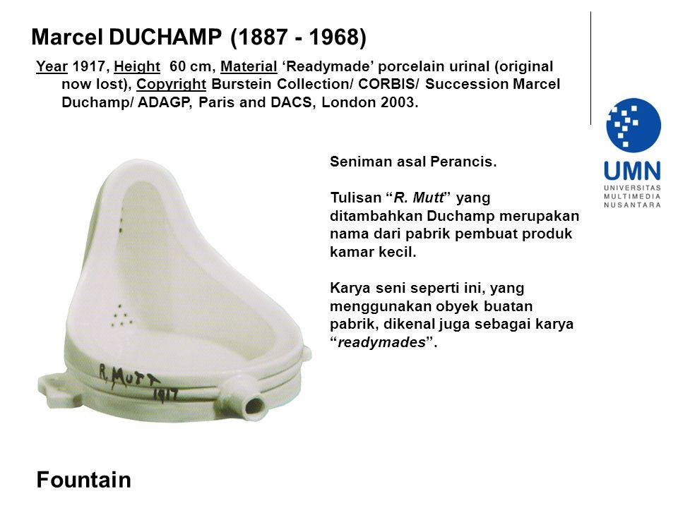 Marcel DUCHAMP (1887 - 1968) Fountain