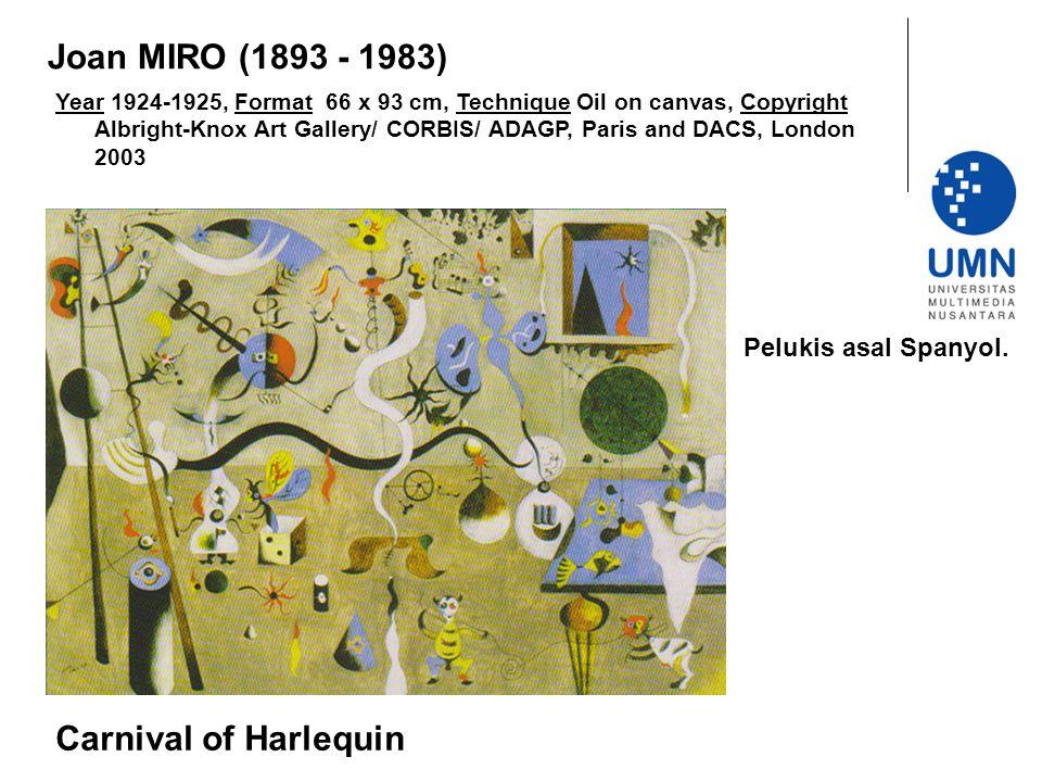 Joan MIRO (1893 - 1983) Carnival of Harlequin Pelukis asal Spanyol.