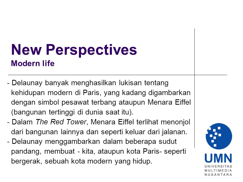 New Perspectives Modern life