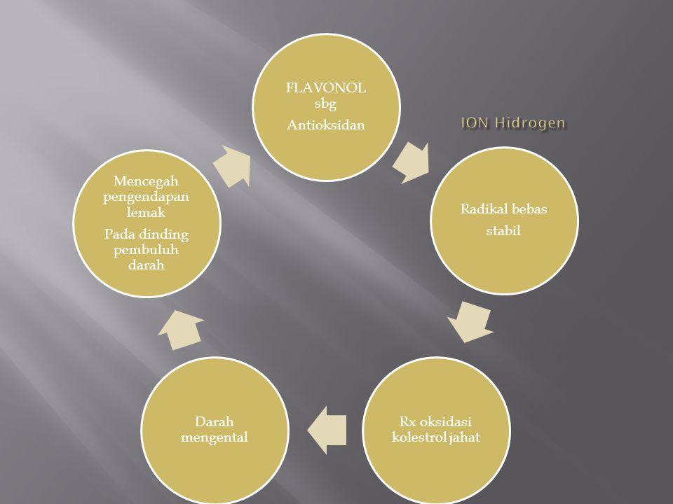 ION Hidrogen FLAVONOL sbg Antioksidan Radikal bebas stabil